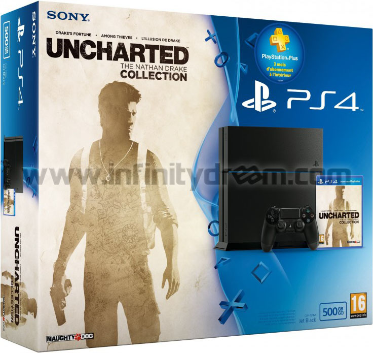 PS4 500Go FW 5.05 - Pack Uncharted