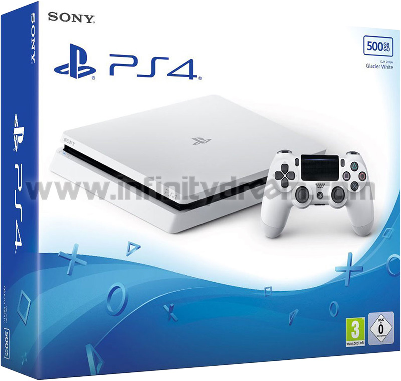 PS4 Slim 500Go FW 5.05 - Glacier White